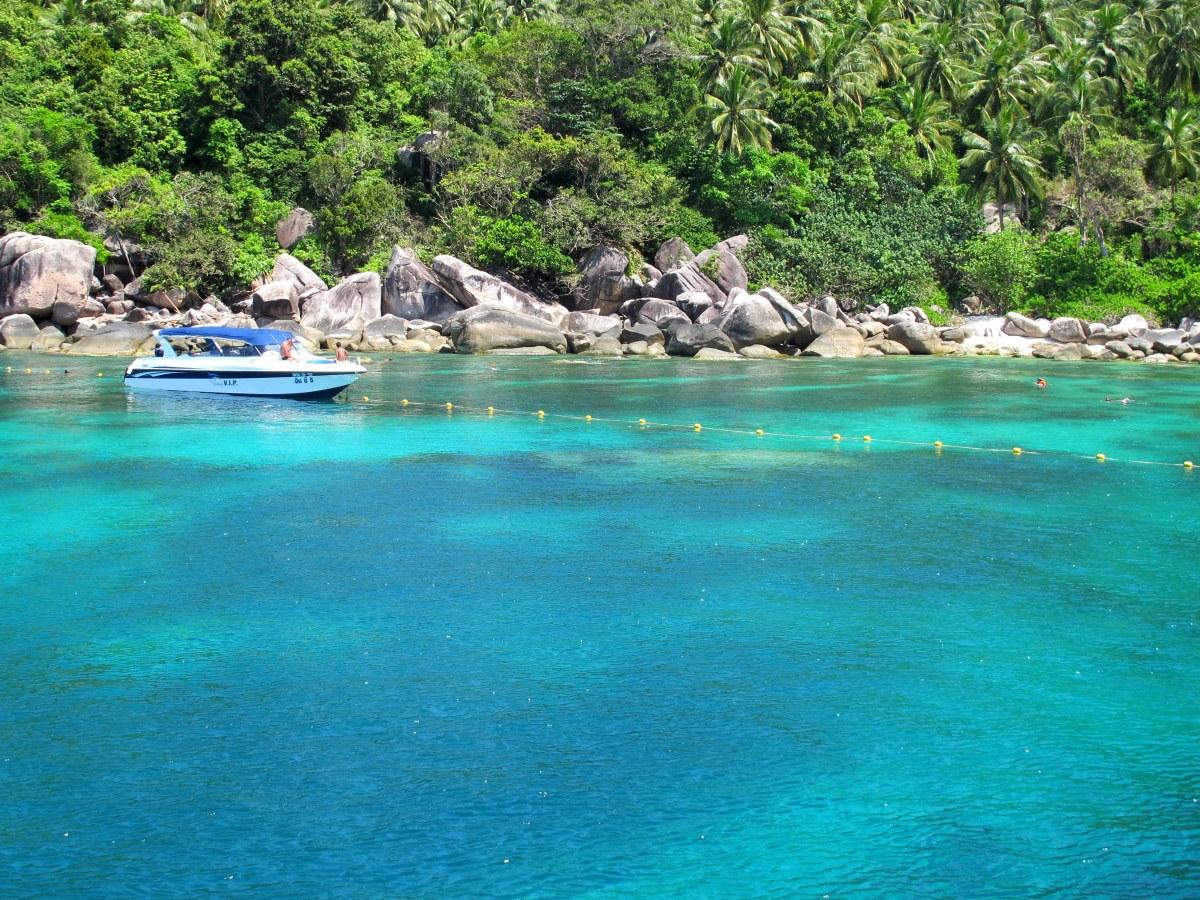 Triss i öar på Thailands östkust